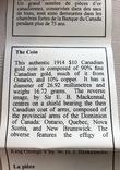 10$ 1914 год Канада золото 16,72 грамма 900', фото №8