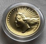 100 $ 2019 года США золото 31,1 грамм 999,9', фото №10