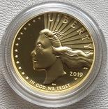 100 $ 2019 года США золото 31,1 грамм 999,9', фото №2