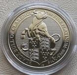 100 фунтов 2019 год Англия платина 31,1 грамм 999,5', фото №2