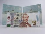 Комплект 2ух презентационных банкнот Пантелеймон Кулиш в украинском и английском буклетах фото 2