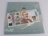 Комплект 2ух презентационных банкнот Пантелеймон Кулиш в украинском и английском буклетах фото 11