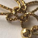 Золотые серьги-подвески 585 пробы, фото №8