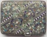 Портсигар серебряный, 84 пробы, многоцветные Эмали., фото №4