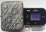 Портсигар серебряный, 84 пробы, многоцветные Эмали., фото №7
