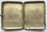 Портсигар серебряный, 84 пробы, многоцветные Эмали., фото №8