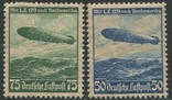 1936 Рейх полная серия авиапочта дирижабли, фото №2