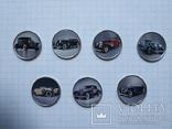 Сомали 1 шиллинг 2015 ретро автомобили 7 шт, фото №2