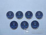 Сомали 1 шиллинг 2015 ретро автомобили 7 шт, фото №3