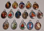 Четки католические с иконой Розарий 59 бусин Цельный камень змеевик, фото №9