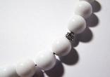 Дизайнерские чётки =Возрождение= цельный чёрный и белый агат 12мм, фото №5