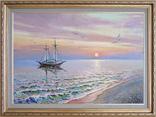"""""""Ранок на Чорному морі"""". Ірена Алісова, картон, олія, 35 х 50 см., фото №2"""
