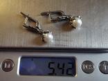 Серьги серебро 925 проба. Вес 5.42 г., фото №7