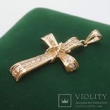 Золотой крестик с бриллиантами, фото №2