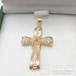 Золотой крестик с бриллиантами, фото №3