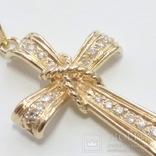 Золотой крестик с бриллиантами, фото №6
