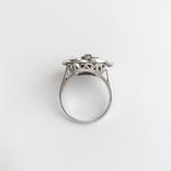 Золотое кольцо с бриллиантами и эмалью, фото №4