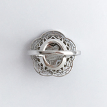 Золотое кольцо с бриллиантами и эмалью, фото №5