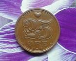 Дания 25 эре 1991, фото №2