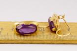 Золотые серьги 583 пробы, фото №4