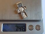 Крестик нательный. Серебро 925 проба. Вес 7.50 г., фото №10