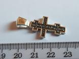 Крест нательный серебро 925. Вес 3.75 г., фото №6