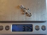 Крест нательный серебро 925. Вес 3.75 г., фото №8