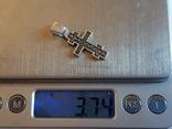 Крест нательный серебро 925. Вес 3.75 г., фото №9
