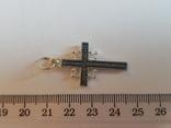 Крест нательный серебро 925. Вес 3.55 г., фото №6