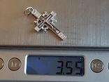 Крест нательный серебро 925. Вес 3.55 г., фото №8