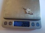 Крест нательный серебро 925. Вес 2 г., фото №8