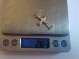 Крестик нательный. Серебро 925 проба. Вес 2.6 г., фото №7