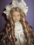 Уникальная фарфоровая кукла от Heidi Ott Хайди Отт натуральные волосы, фото №2