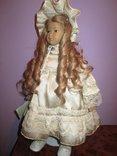Уникальная фарфоровая кукла от Heidi Ott Хайди Отт натуральные волосы, фото №6