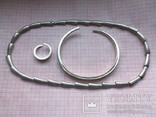 Комплект Pierre Cardin серебро вес 107,58 г. Колье, браслет, кольцо. Пьер Карден., фото №2