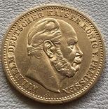 20 марок 1887 год Германия Пруссия золото 7,96 грамм 900', фото №3