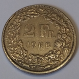 Швейцарія 2 франка, 1968