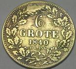 Бремен, 6 гроте 1840 год, серебро,, фото №2