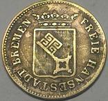 Бремен, 6 гроте 1840 год, серебро,, фото №3