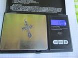 Крестик серебро 84 пробы., фото №8