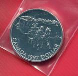 Канада 1 доллар 1992 aUNC Дилижанс, фото №2