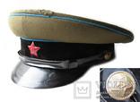 Суконная фуражка ВОСО служба военных сообщений клеймо красный воин 1958 год, фото №3