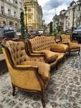 Комплект барокко кресла диван мягкий уголок, фото №3