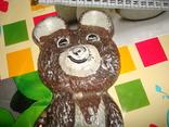 Мишка олимпийский металический тяжёлый СССР 1980, фото №3