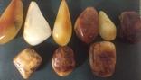 Янтарь капли пейзаж белый 9 камней, фото №9