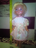 Лялька паричковая на резинках производства ссср., фото №4