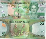 Cayman Is Кайманы Каймановы о - 5 Dollars 2014 / 2017 серия D/2 UNC JavirNV, фото №2
