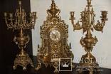 Часы каминные с подсвечниками. Из Италии., фото №2