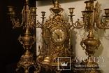 Часы каминные с подсвечниками. Из Италии., фото №12