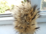 Ежик из меха енота 15смХ12см (р-р с мехом)., фото №4